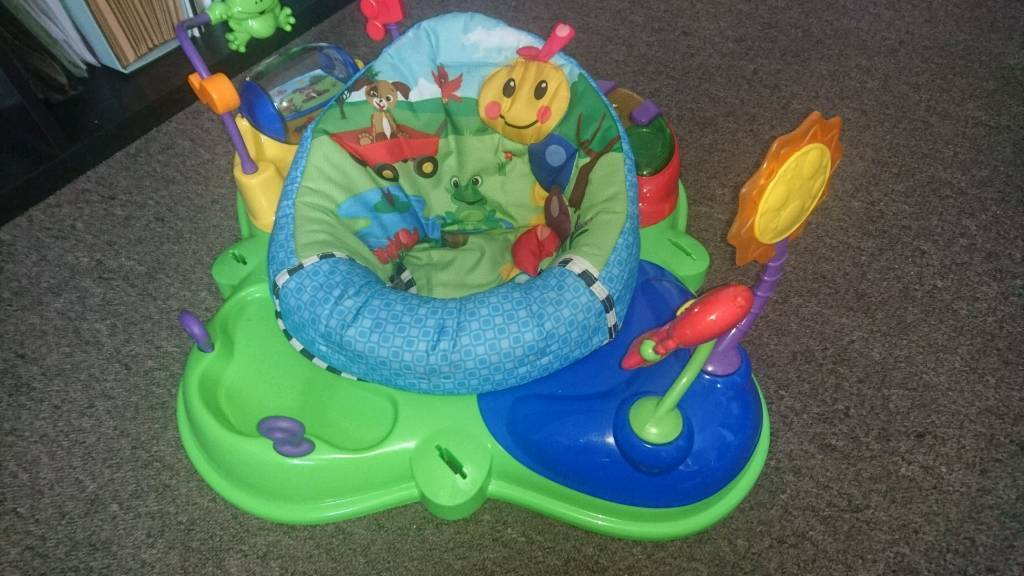 Baby Einstien Jump Chairin Armley, West YorkshireGumtree - Baby jumper in excellent condition. Already dismantled.. Various activities with rotating jump chair excellent for popping baby in for a play while keeping them in one spot.. Collection only