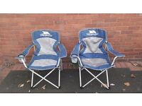 Trespass folding chairs x 2