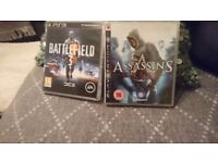 PS3 games. Assassins creed and Battlefield 3