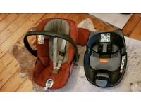 Cloud q car seat with isofix base