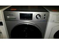 Freestanding A+++Hisense Silver 8Kg Spin 1400 Washing Machine (BRING YOUR OLD ONE AND GET NEW -25%)