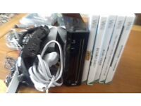 Black wii with games