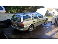 Vectra B 1.8 LS Estate S-reg 1998 breaking, Silver, all parts available, mail order