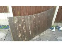 Fence Panels, Used size 6ft long, approx 3ft high. 5 sections
