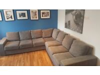 Gorgeous grey Nabru 7 seater sofa and sofabed