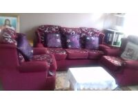 Sofa set one three seater and two singles
