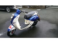 Sym Mio Blue & White 50cc Moped