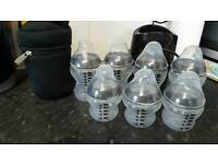 Tommee tippee bottles and warmer