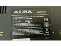 "19"" Alba TV with Free view and remote. HD ready in good condition"