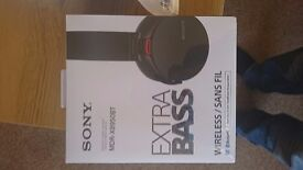 Sony wireless headphones, brand new unopened.