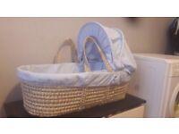 Blue mosess basket