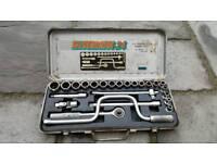Vintage draper silverdrive 24 socket set