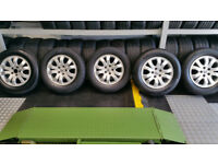 Honda Genuine 16 alloy wheels + 5 x tyres 215 65 16 Michelin