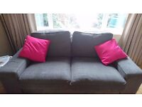 2-seater Ikea 'Kivik' sofa, Tullinge Grey, with two spare armrests!