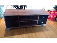 Wooden TV cabinet with draws and shelves