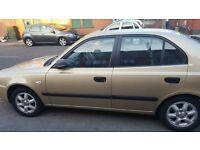 Hyundai Accent 1.3Gsi, Gold, Petrol, 2004, 5dr, low mileage, manual