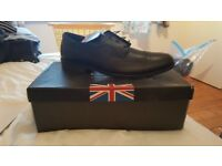 Mens black leather formal shoes size 15 brand new never worn