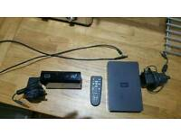 Western digital 1tb external portable hard drive with WDTV media player.