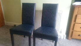 2 x Leather dining chair, condition NEW
