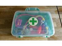 Children's doctor set in case toddler toy