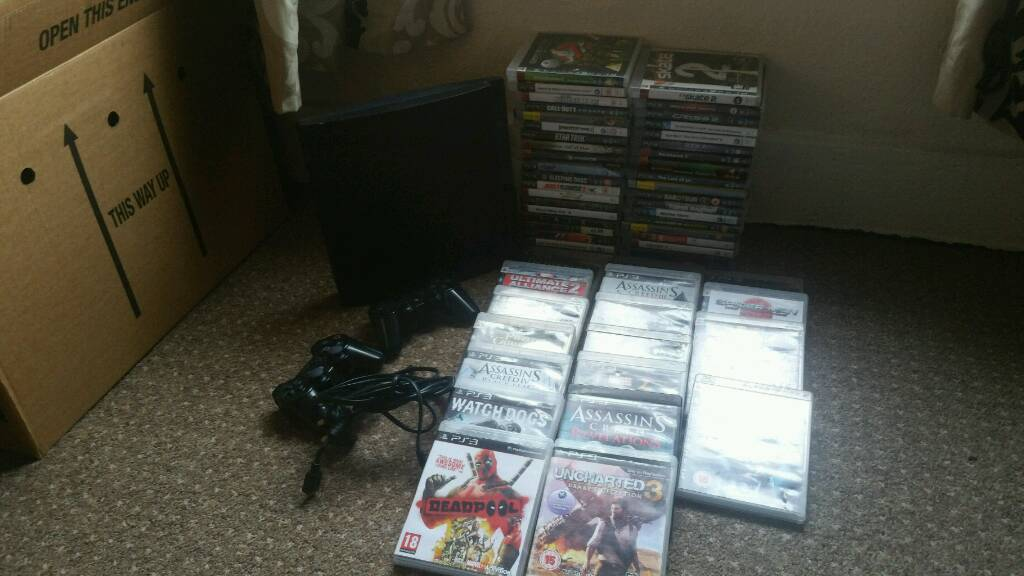 PlayStation 3 with 75 games