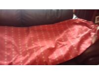Pair of beautiful full length Red and Gold curtains