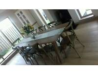 Bespoke dinning table with 8 chairs