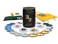 Breaking Bad Limited Edition Signed Gold Barrel Bryan Cranston Vince Gilligan BLU RAY Full Set