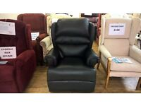 Real Leather Ex-Demo Riser Recliner Chair with In-Built Massage System
