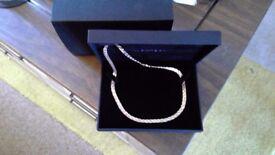 3 colour 9 ct gold Necklace