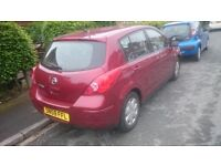 Good runner, low milage Nissan TIIDA. Selling due to having 2 cars, SOLD AS SEEN