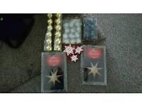 Ikea Christmas tree balls and stars