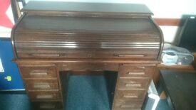 Antique Angus roll top desk