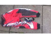 """Red wolfsport pants 26"""" with free goggles"""