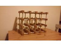Good quality used 12 bottle wine rack for sale - Excellent condition