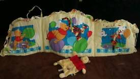 Winnie the Pooh cot bumper