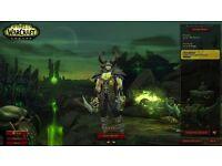 World Of Warcraft Legion Account 24 Days Gold + Heirlooms