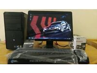 """Dell Inspiron 560 Desktop Computer PC & Dell 21"""" Screen LCD HD -"""