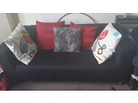black 2 seater sofa good condition
