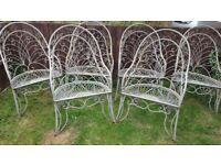 6 antique garden chairs