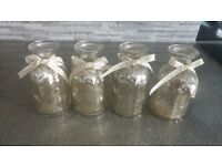 wedding. flower jars