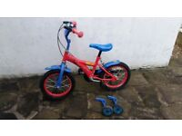 spiderman kids bike with scooter all £25 only