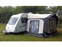 Swift Charisma 535 Lightweight, 4 berth, fixed bed touring caravan.