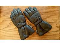 Black Leather Sport Motorcycle Gloves Waterproof Breathable As New Size Medium