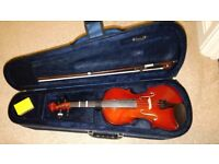 Violin Prima P-103 1/2 Nat and case