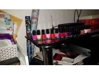 14 coloured nail varnish with free make up bag