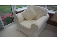 Large Armchair. Cream, comfy,in good condition.