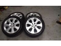 VAUXHALL 17 inch alloy wheels and tyres