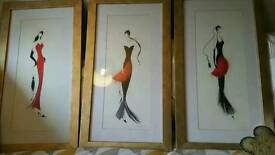 Marilyn robertson set of framed pictures