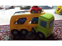 ELC Car transporter + 3 cars